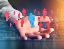Intrus dans un groupe de personnes de réseau - les affaires et le contact escroquent Photo libre de droits