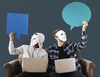 Intrus et concept de crime de cyber Photos libres de droits