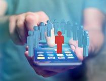 Intruz w grupie sieci ludzie biznes i kontaktowy przeciw - zdjęcia stock