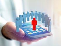 Intruz w grupie sieci ludzie biznes i kontaktowy przeciw - obrazy stock