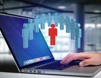 Intruz w grupie sieci ludzie biznes i kontaktowy przeciw - zdjęcia royalty free