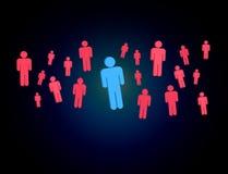 Intruz w grupie sieci ludzie biznes i kontaktowy przeciw - fotografia stock