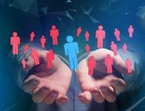 Intruz w grupie sieci ludzie biznes i kontaktowy przeciw - obraz royalty free