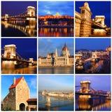 Intryck av Budapest Arkivbild