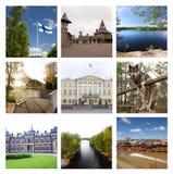 Intryck av Finland, collage av loppbilder 17 Augusti 2018 royaltyfria foton