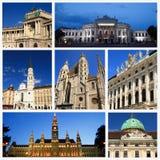 Intryck av Wien Arkivfoto
