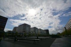 Intryck från den Potsdam fyrkanten, Potsdamer Platz i Berlin från April 11, 2017, Tyskland Royaltyfria Foton