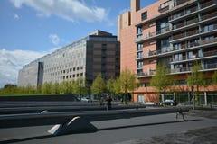 Intryck från den Potsdam fyrkanten, Potsdamer Platz i Berlin från April 11, 2017, Tyskland Arkivbilder
