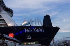Intryck från dopet av ett skepp Royaltyfria Bilder
