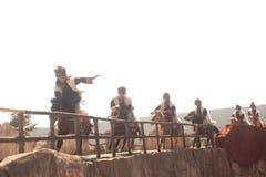 Intrycket Lijiang är den traditionella dansen i Kina. Royaltyfria Foton