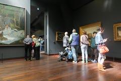 Intryckkorridor i det Orsay museet - paris Arkivbild