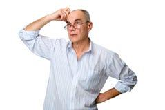 intrygujący mężczyzna problem czym był Zdjęcie Stock