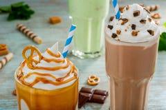 Intrygująca kombinacja w milkshake Zdjęcie Royalty Free