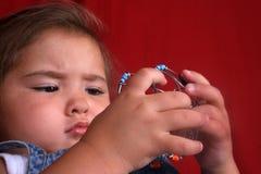 intrygujący dziecka Obrazy Stock