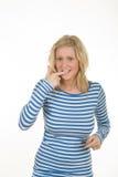 intrygujący target313_0_ blondynki dziewczyna Obraz Stock