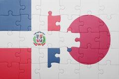 Intryguje z flaga państowowa republika dominikańska i Japan Fotografia Stock