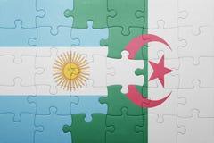 intryguje z flaga państowowa Algeria i Argentina Zdjęcia Royalty Free