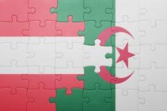 intryguje z flaga państowowa Algeria i Austria Fotografia Royalty Free
