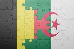 intryguje z flaga państowowa Algeria i Belgium Zdjęcie Stock