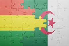 intryguje z flaga państowowa Algeria i Bolivia Zdjęcie Royalty Free
