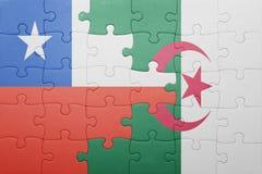 intryguje z flaga państowowa Algeria i chile ilustracja wektor