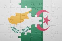 intryguje z flaga państowowa Algeria i cibora Obrazy Royalty Free