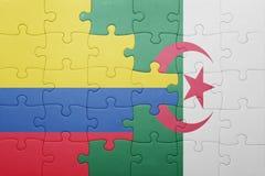 intryguje z flaga państowowa Algeria i Colombia Zdjęcie Stock