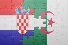 intryguje z flaga państowowa Algeria i Croatia Zdjęcia Stock