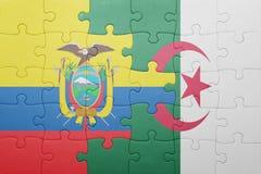 intryguje z flaga państowowa Algeria i Ecuador Zdjęcie Stock