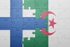 intryguje z flaga państowowa Algeria i Finland Fotografia Royalty Free