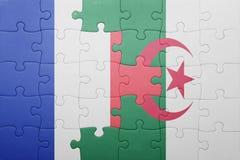 intryguje z flaga państowowa Algeria i France Obraz Royalty Free