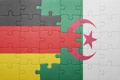 intryguje z flaga państowowa Algeria i Germany Fotografia Royalty Free
