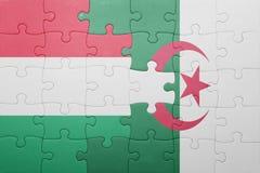 intryguje z flaga państowowa Algeria i Hungary Obraz Royalty Free