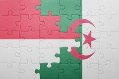 intryguje z flaga państowowa Algeria i Indonesia Zdjęcie Stock