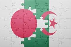intryguje z flaga państowowa Algeria i Japan Zdjęcie Royalty Free