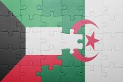 intryguje z flaga państowowa Algeria i Kuwait Zdjęcie Royalty Free