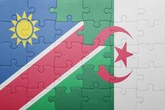 intryguje z flaga państowowa Algeria i Namibia Fotografia Royalty Free