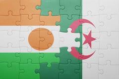 intryguje z flaga państowowa Algeria i Niger Obraz Stock