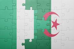 intryguje z flaga państowowa Algeria i Nigeria Fotografia Royalty Free