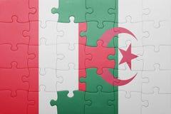 intryguje z flaga państowowa Algeria i Peru Obraz Stock