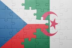 intryguje z flaga państowowa Algeria i republika czech Fotografia Royalty Free