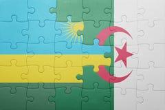 intryguje z flaga państowowa Algeria i Rwanda Zdjęcia Stock