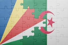 intryguje z flaga państowowa Algeria i Seychelles Obrazy Stock