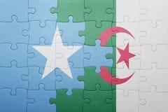 intryguje z flaga państowowa Algeria i Somalia Obraz Stock