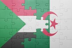 intryguje z flaga państowowa Algeria i Sudan Obraz Royalty Free