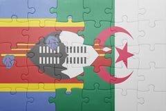 intryguje z flaga państowowa Algeria i Swaziland Obrazy Royalty Free