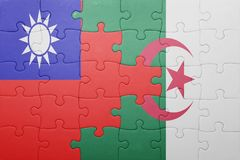 intryguje z flaga państowowa Algeria i Taiwan Obrazy Royalty Free