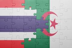 intryguje z flaga państowowa Algeria i Thailand Zdjęcie Royalty Free