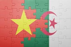 intryguje z flaga państowowa Algeria i Vietnam Fotografia Stock