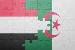 intryguje z flaga państowowa Algeria i Yemen Zdjęcia Royalty Free